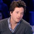 """Le chef Jean Imbert gêné de parler de son ex Alexandra Rosenfeld - Emission """"On n'est pas couché"""" sur France 2, le 6 février 2016."""