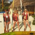 Perrie Edwards a publié une photo d'elle en vacances avec les Little Mix sur sa page Instagram, au mois de janvier 2016.