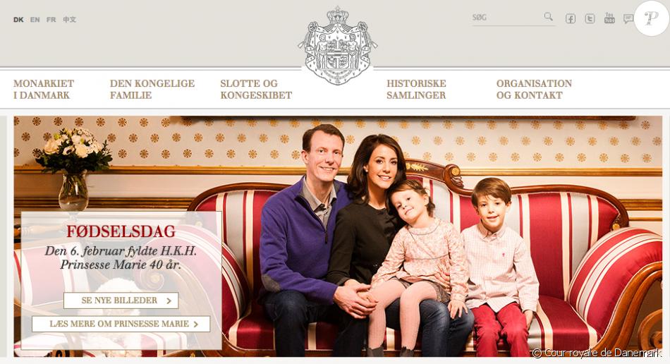 La princesse Marie de Danemark dans l'une des photos réalisées pour son 40e anniversaire, le 6 février 2016, présentée sur le site de la cour danoise.