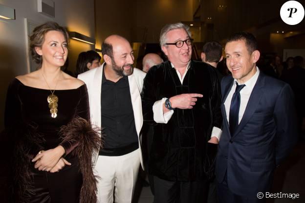 La princesse Claire de Belgique, Kad Merad, le prince Laurent de Belgique et Dany Boon - 6e édition de la cérémonie des Magritte du cinéma à Bruxelles en Belgique le 6 février 2016.