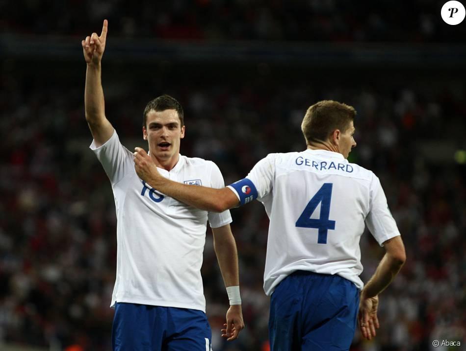 Adam Johnson lors d'un match entre l'Angleterre et la Bulgarie, le 3 septembre 2010 au stade Wembley de Londres