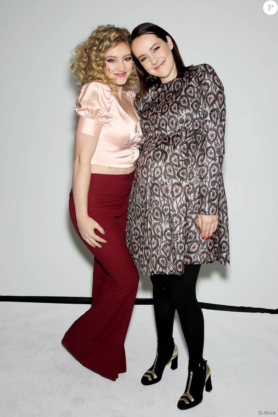 Willow Shields, Jena Malone - Défilé Jill Stuart lors de la New York Fashion Week le 13 février 2016