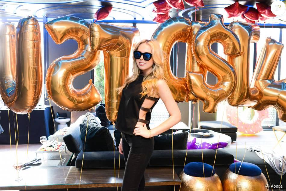 Tiffany Trump lors du lancement de la collection été de Just Drew Clothing à New York, le 3 mai 2015