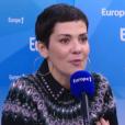 """Cristina Cordula suscite la polémique concernant la fourrure. """"Le Grand direct des médias"""" sur Europe1, le 19 février 2016."""