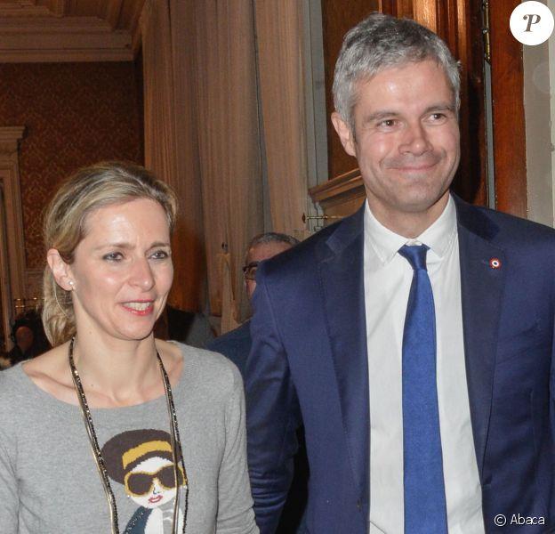 Laurent Wauquiez et sa femme Charlotte à Lyon, le 13 décembre 2015.