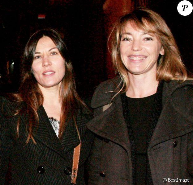 Mathilde Seigner et Valérie Guignabodet à Paris en mars 2008.