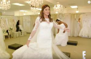 Caitlyn Jenner splendide dans une belle robe de mariée !