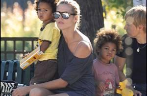 REPORTAGE PHOTO : Heidi Klum, très sexy, chouchoute ses enfants !