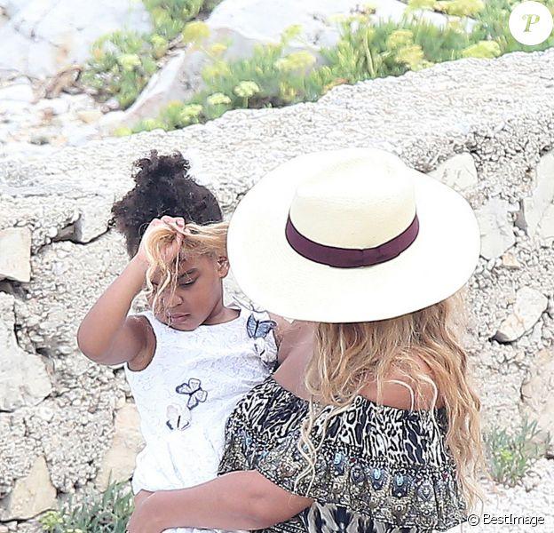 Beyonce Knowles et sa fille Blue Ivy, le 16/09/2015 - Cannes