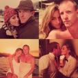 Jacqui Ainsley célèbre son sixième anniversaire de couple avec Guy Ritchie sur sa page Instagram, le 18 mars 2016.