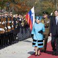 La reine Elizabeth II en Slovénie avec le président slovène Danilo Turk