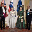 La reine Elizabeth II et son époux le prince Philip reçus par le président Danilo Turk et son épouse
