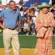 La reine Beatrix et Johan Cruyff à Aruba le 6 novembre 2006