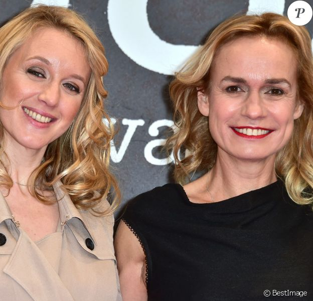 Ludivine Sagnier et Sandrine Bonnaire (présidente du jury) à la cérémonie de clôture du 8ème festival international du film policier de Beaune le 2 avril 2016. © Giancarlo Gorassini / Bestimage