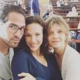 Lorie sur le tournage de Meurtre à Grasse, mercredi 6 avril 2016.
