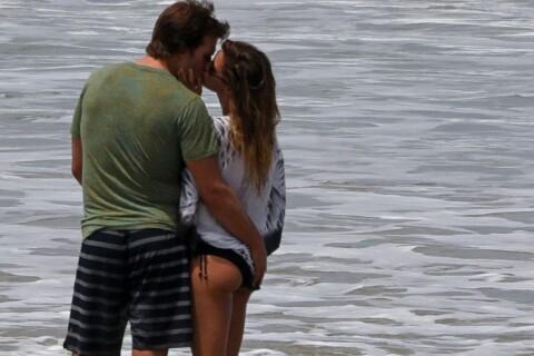 Gisele Bündchen : Surfeuse couverte de bisous par son amoureux Tom Brady