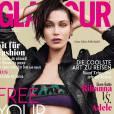 Bella Hadid en couverture du magazine Glamour, édition allemande. Numéro de mai 2016.