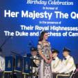 Kate Middleton en Alice Temperley le 11 avril 2016 à New Delhi lors d'une réception chez le haut commissaire britannique.