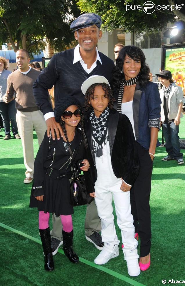 Will Smith, sa femme et leurs enfants