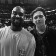 Kanye West et Brooklyn Beckham au Staples Center. Photo publiée le 13 avril 2016.