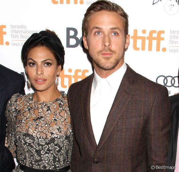 Eva Mendes et Ryan Gosling à Toronto le 7 septembre 2012.
