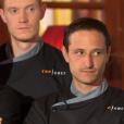 """Franck, Thomas et Pierre Meneau et Kevin - """"Top Chef 2016"""", la finale. Emission du 18 avril 2016 diffusée sur M6."""