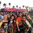 Photo d'Alessandra Ambrosio et sa bande au week-end d'ouverture du festival Coachella. Indio, avril 2016.