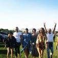 Alessandra Ambrosio au week-end d'ouverture du festival Coachella. Indio, avril 2016.