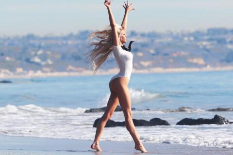 Daisy Lea : La gymnaste sexy fait son show à la plage