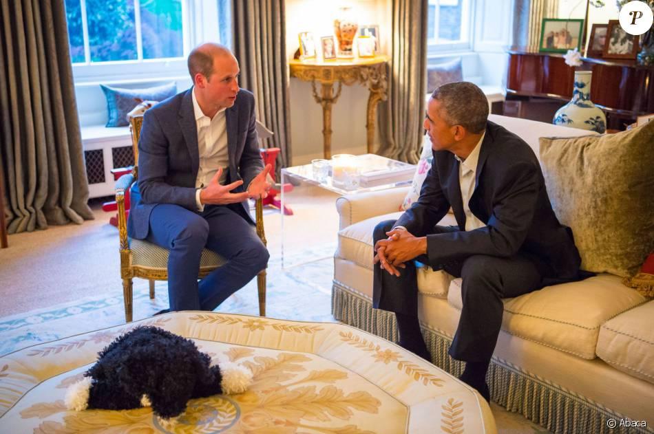 Barack Obama Et Le Prince William Au Palais De Kensington