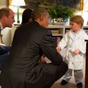 George de Cambridge : Le fils de Kate et William craquant avec le couple Obama