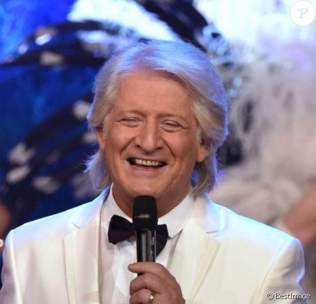 Exclusif - Patrick Sébastien, sur le tournage de l'émission Le Plus Grand Cabaret Du Monde, à La Plaine St-Denis le 26 novembre 2015.