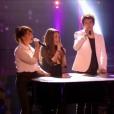 Mélanie, Manu, Mia et Patrick, les quatre demi-finalistes de  Nouvelle Star 2016  sur D8, le mardi 26 avril 2016.