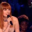 Elodie Frégé, dans  Nouvelle Star 2016  (demi-finale) sur D8, le mardi 26 avril 2016.