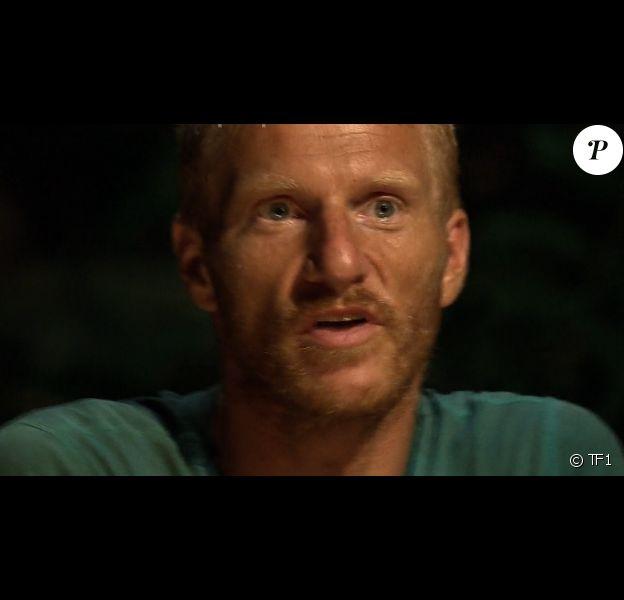 """Gabriel lors du conseil - """"Koh-Lanta 2016"""", épisode du 22 avril 2016, sur TF1."""