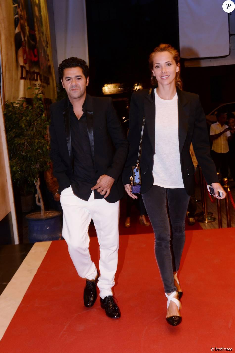 Jamel Debbouze et sa femme Mélissa Theuriau lors de la soirée d'ouverture du 5e Festival Marrakech du Rire, à Marrakech, le 10 juin 2015.