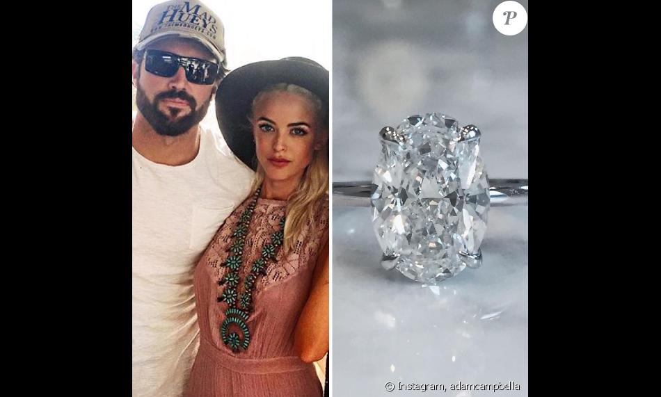 Adam Campbell a publié sur sa page Instagram une photo de la bague de fiançailles de son ami Brody Jenner et sa future femme Kaitlynn Cartner. Photo publiée le 7 mai 2016