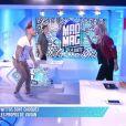 """Aurélie Van Daelen et Vivian prêts à en venir aux mains dans le """"Mad Mag"""" sur NRJ12. Le 10 mai 2016."""