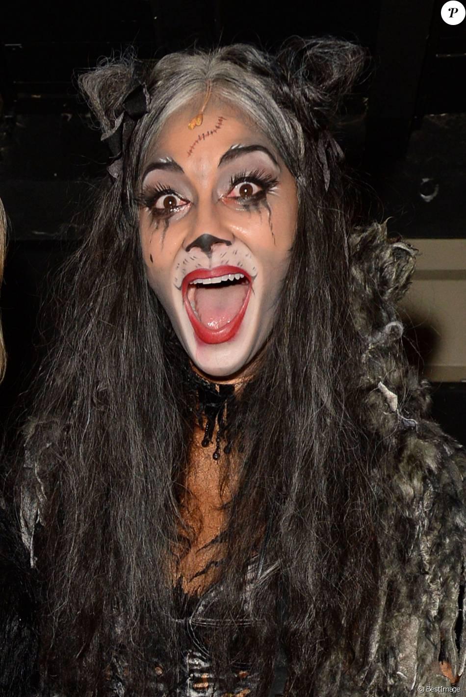 """Nicole Scherzinger sur le filage de la comédie musicale """"Cats"""" à Londres le 11 décembre 2014."""