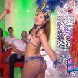 Gyselle Soares en mode carnaval dans le Mad Mag de NRJ12 le 13 mai 2016.