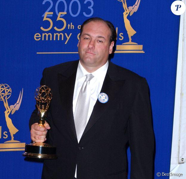 James Gandolfini lors des Primetime Emmy Awards à Los Angeles, le 16 septembre 2007