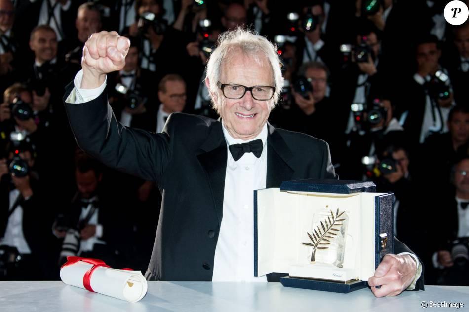 """Ken Loach (Palme d'or pour """"Moi, Daniel Blake"""") - Photocall de la remise des palmes du 69ème Festival International du Film de Cannes. Le 22 mai 2016. © Olivier Borde-Cyril Moreau/Bestimage"""
