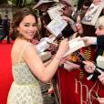 Emilia Clarkelors de la première de Me Before You au Curzon Mayfair, Londres, le 25 mai 2016.