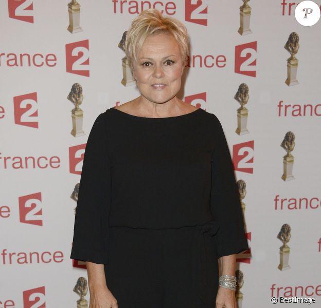 Muriel Robin - Soirée de la 28ème Nuit des Molières au théâtre des Folies Bergère à Paris. Le 23 mai 2016 © Coadic Guirec / Bestimage
