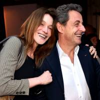 carla bruni et nicolas sarkozy un fou rire pour les amoureux nice. Black Bedroom Furniture Sets. Home Design Ideas