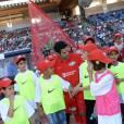 """Jamel Debbouze au """"Charity Football Game 2016"""" au festival Marrakech du Rire. Le match de foot réunis des célébrités au Grand Stade de Marrakech et les bénéfices sont reversés aux associations marocaines d'aide à l'enfance. Marrakech, le 5 juin 2016. © Bellack Rachid/Bestimage"""