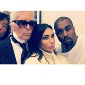 Kim Kardashian, Kanye West et Karl Lagerfeld : Retrouvailles d'icônes à Paris !