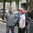 Exclusif - René-Charles Angélil est allé dîné au restaurant Le relais de l'entrecôte, avant de regagner son hôtel, le 13 juin 2016, à Paris. Le jeune homme accompagne sa mère Céline Dion pour ses concerts à l'AccorHotels Arena.