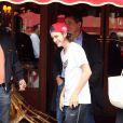 Exclusif - René-Charles Angélil, le fils de Céline Dion, est allé dîné au restaurant Le relais de l'entrecôte, avant de regagner son hôtel, le 13 juin 2016, à Paris.