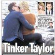 """La romance de Taylor Swift et Tom Hiddleston étalée au grand jour en Une de """"The Sun""""."""